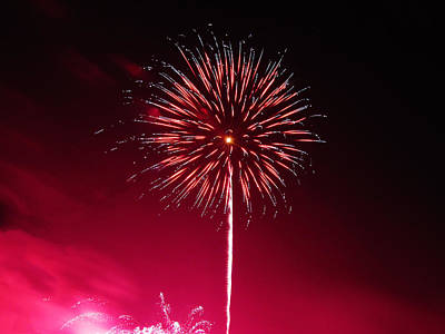 Photograph - Fireworks 03 by RLH Photography