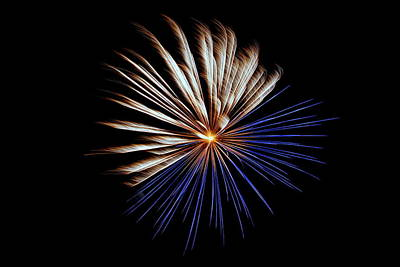 Photograph - Fireworks 030 by Larry Ward