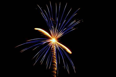 Photograph - Fireworks 033 by Larry Ward