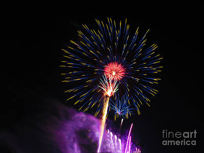 Photograph - Fireworks 04 by RLH Photography