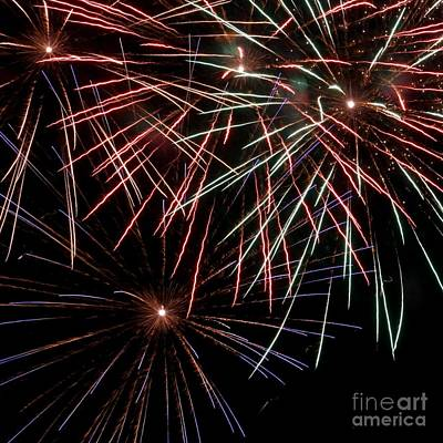 Photograph - Fireworks 1 by Balanced Art