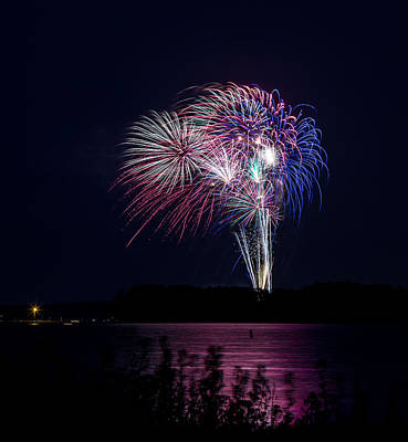 Photograph - Fireworks-1 by Charles Hite