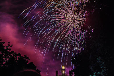 Photograph - Fireworks 1 by Jerry Gammon