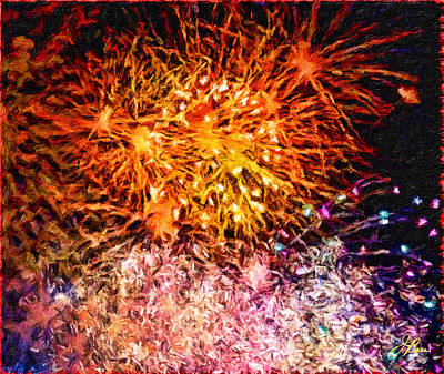 Painting - Fireworks 11 by Joan Reese