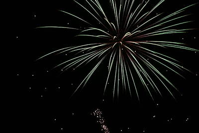 Photograph - Fireworks 11 by Ron Read