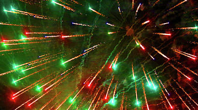 Photograph - Fireworks 13 2018 by Mary Bedy