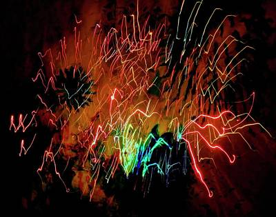 Photograph - Fireworks 16 by Joan Reese