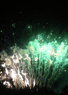 Photograph - Fireworks 19 2018 by Mary Bedy