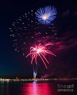 Photograph - Fireworks #2 by Colin Rayner