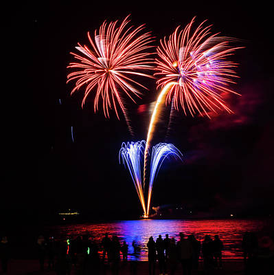 Photograph - Fireworks 2 by Giles PichelJuan