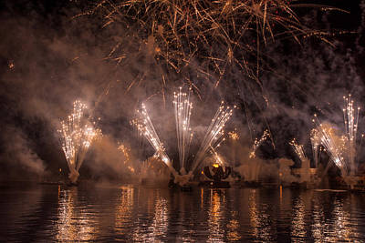 Disney Photograph - Fireworks 2 by Zina Stromberg