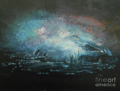 Painting - Fireworks 2018 by Jane See