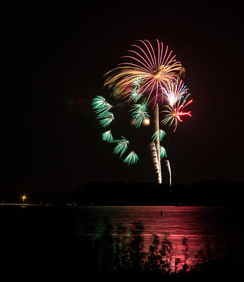 Photograph - Fireworks-3 by Charles Hite