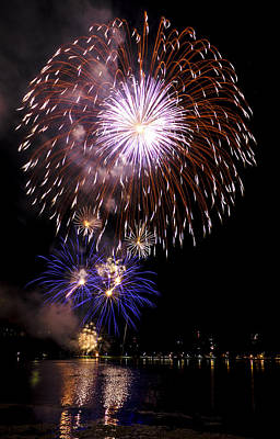 Photograph - Fireworks 3 by David Stine