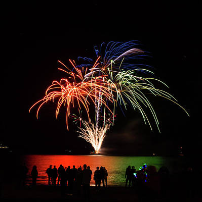 Photograph - Fireworks 3 by Giles PichelJuan