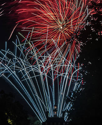 Photograph - Fireworks 3 by Jerry Gammon