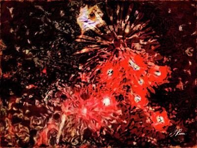 Digital Art - Fireworks 3 by Joan Reese