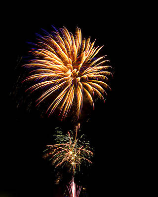 Art Print featuring the photograph Fireworks 4 by Bill Barber