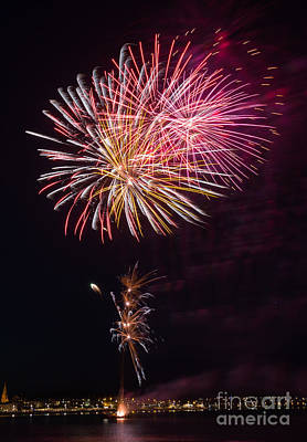 Photograph - Fireworks #4 by Colin Rayner