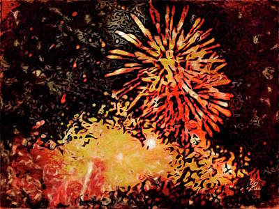 Painting - Fireworks 4 by Joan Reese
