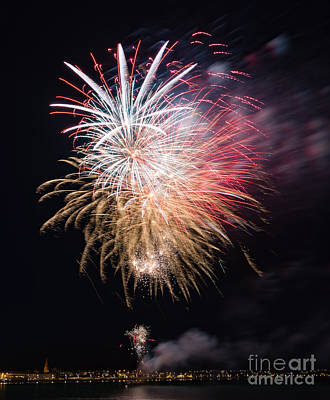 Photograph - Fireworks #5 by Colin Rayner