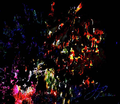 Painting - Fireworks 5 by Joan Reese