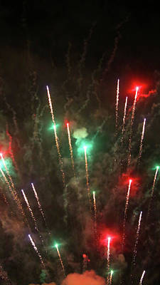 Photograph - Fireworks 6 2018 by Mary Bedy