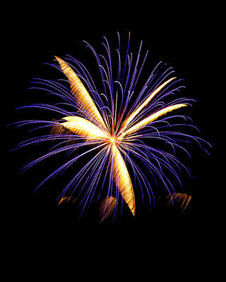 Art Print featuring the photograph Fireworks 6 by Bill Barber