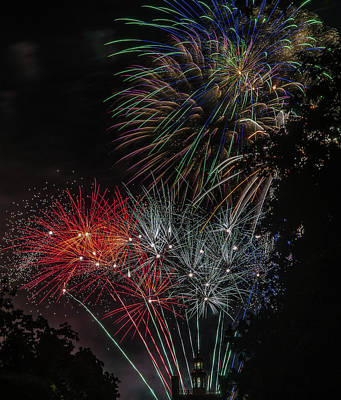 Photograph - Fireworks 6 by Jerry Gammon