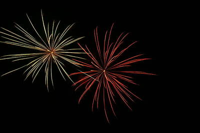 Photograph - Fireworks 7 by Ron Read