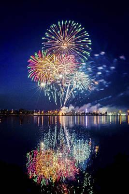 Brilliant Fireworks Photograph - Fireworks - 7 by Tom Clark