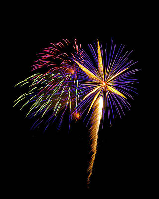 Art Print featuring the photograph Fireworks 8 by Bill Barber