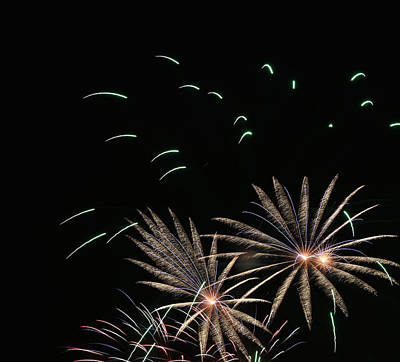 Photograph - Fireworks Abstract 15 2015 by Mary Bedy