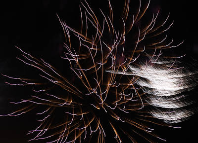 Photograph - Fireworks Abstract 17 2015 by Mary Bedy
