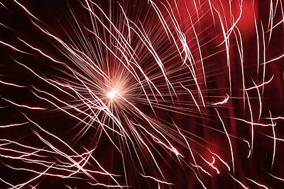 Photograph - Fireworks Abstract 26 2015 by Mary Bedy