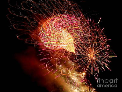 Photograph - Fireworks Abstract #3 by Ed Weidman