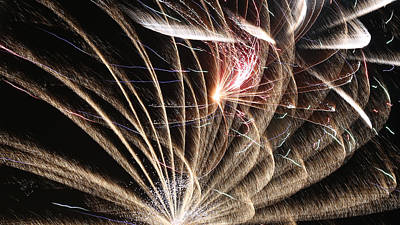 Photograph - Fireworks Abstract 35 2015 by Mary Bedy