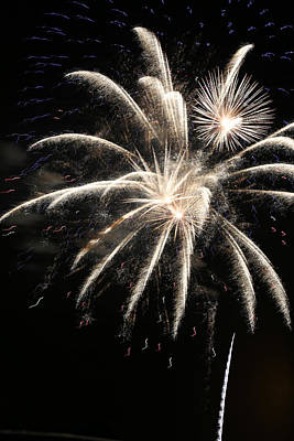Photograph - Fireworks Abstract 38 2015 by Mary Bedy