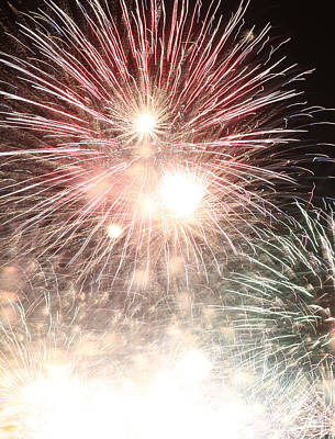 Photograph - Fireworks Abstract 43 2015 by Mary Bedy