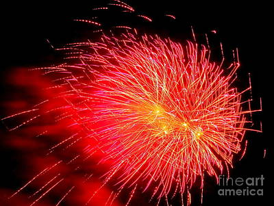 Photograph - Fireworks Abstract #5 by Ed Weidman