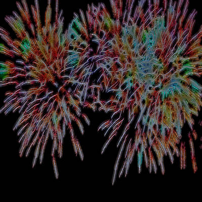 Fireworks Abstract Art Print