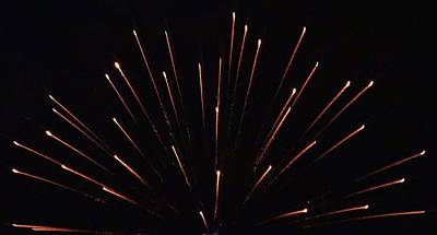Photograph - Fireworks Abstract by Christopher James