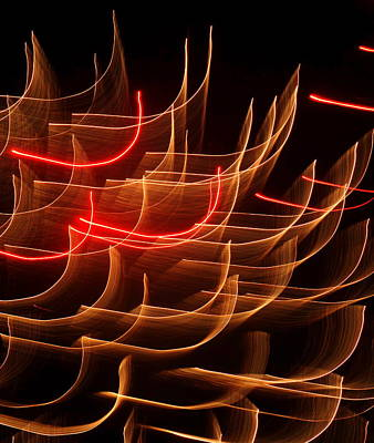Photograph - Fireworks Abstraction 3 by Beth Akerman