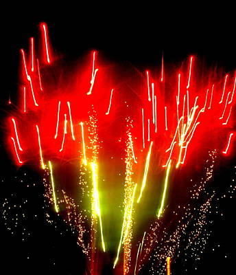 Photograph - Fireworks Abstraction 6 by Beth Akerman