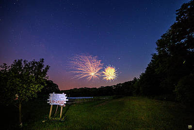Photograph - Fireworks And The Stars by John Meader