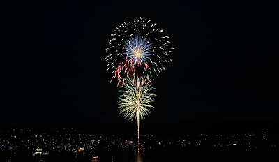 Photograph - Fireworks At Coeur D'alene by Whispering Peaks Photography