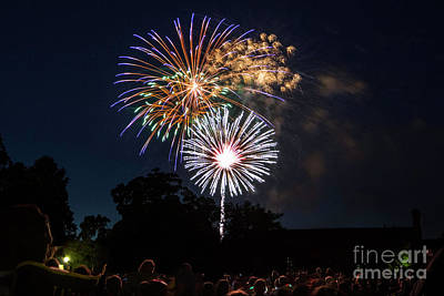 Photograph - Fireworks At Colonial Williamsburg by Karen Jorstad