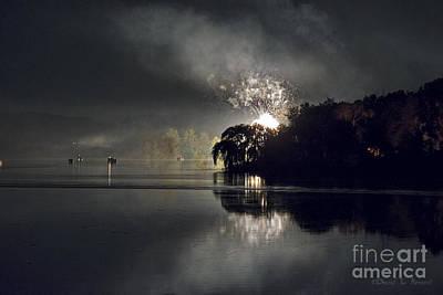 Photograph - Fireworks At Shipshewana Lake 2015 by David Arment