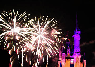 Fairy Photograph - Fireworks At The Castle by Zina Stromberg