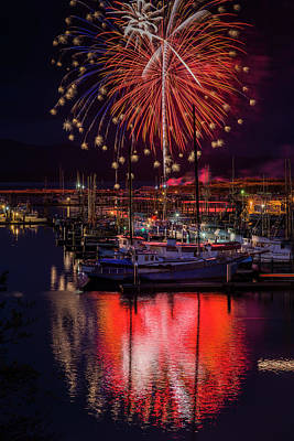 Photograph - Fireworks At The Docks by Robert Potts